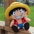 40 CM 15.7 pulgadas lindas del Anime de japón de una pieza del mono D Luffy grande juguete relleno felpa para los niños de cumpleaños cn16lbwsgnpph1a020ppjgy1x9
