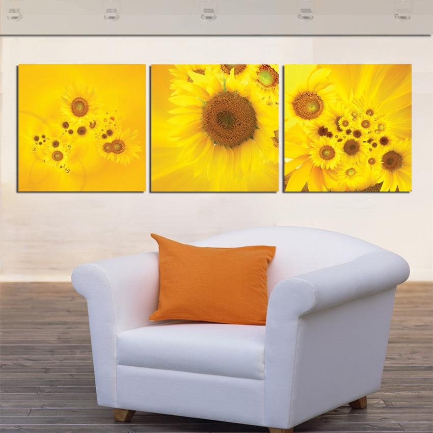 Yellow Wall Art compare prices on art wall sunflowers- online shopping/buy low