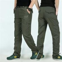 Армия Военное Дело быстросохнущая Повседневные штаны для мужчин Для мужчин осень 2017 г. непромокаемые брюки Тактический Брюки карго Мужская Треники Pantalon Homme