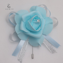 Royal  Blue Wedding Corsage Pin