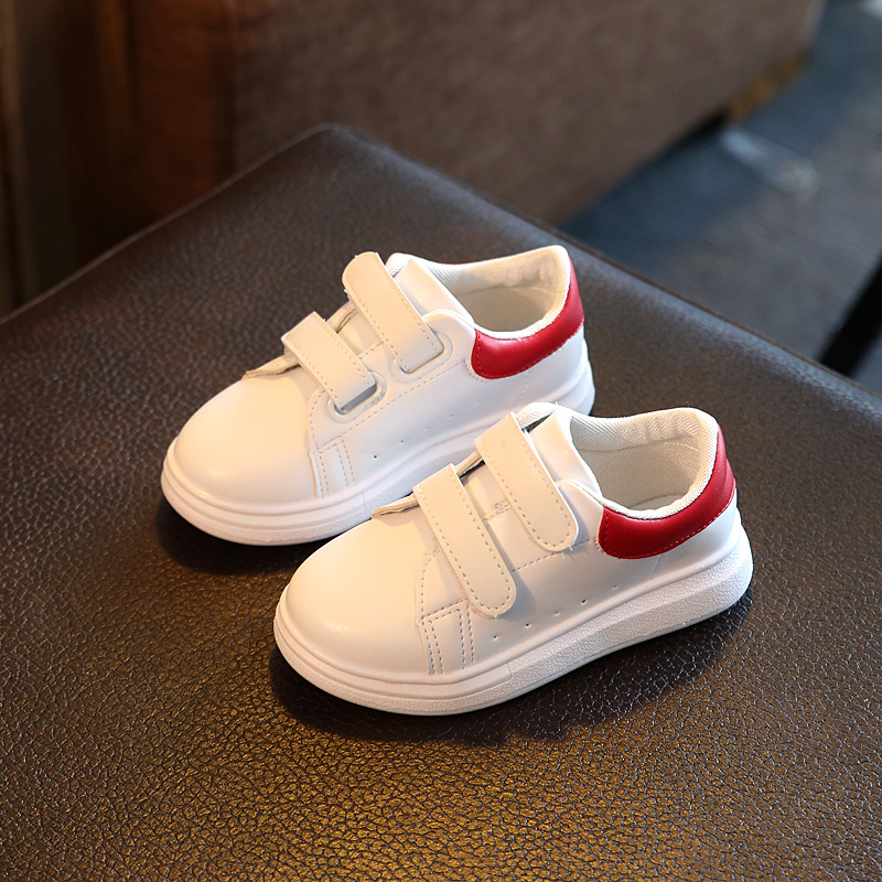 toddler girls running shoes children s White leather kids boys loafers leisure chaussure enfant fille baby running trail shoes