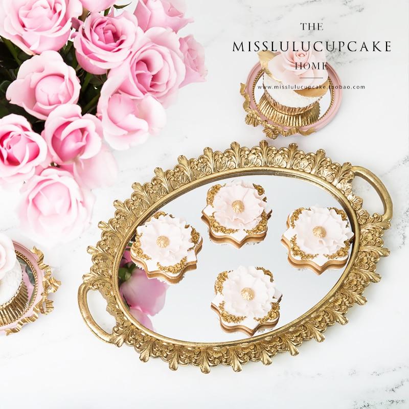 Cermin Kesombongan Nampan Parfum Cologne Pemegang Dresser Organizer - Dapur, ruang makan, dan bar
