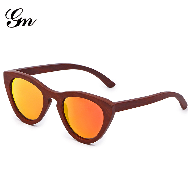 e618b65186 2017 G M sunglasses men polarized light mirror blue rosewood sandalwood  hard sunglasses fashionable wood sunglasses men