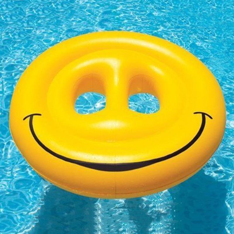 2016 Hot koop Zomer Geel Ronde Opblaasbare Glimlach Float Eiland ...