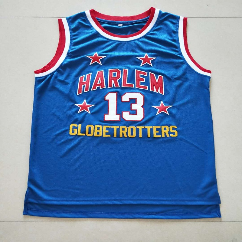 8cd7010b2 OLN New Cheap Basketball Shirt Wilt Chamberlain 13 Harlem Globetrotters  Throwback Basketball Jersey Stitched Blue Size S 4XL-in Basketball Jerseys  from ...