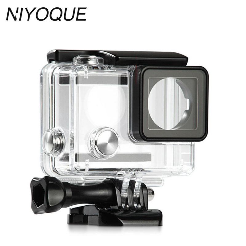 GoPro Hero 4 Underwater Waterproof Housing Case Replacement for Go Pro Hero 4 Black Silver Edition Camera Accessories
