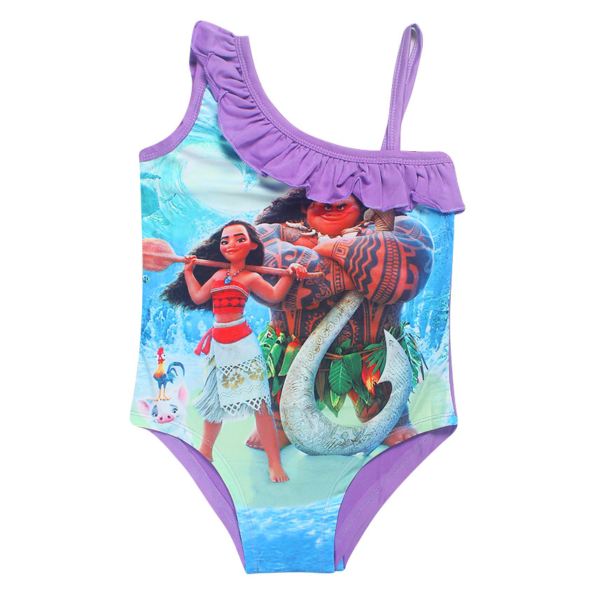 932284611bab3 3 10T Girls One Piece Swimsuit Children Girls Summer Swimwear Kids Girls  Print Cartoon Swimming Suits G2 K327-in Children's One-Piece Suits from  Sports ...