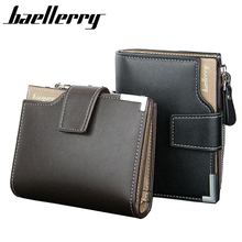 New 2017 Short Wallets PU Leather Brand Men Wallets Dollar Price Bifold Wallet Men Card Holder Coin Purse Pockets With Zipper