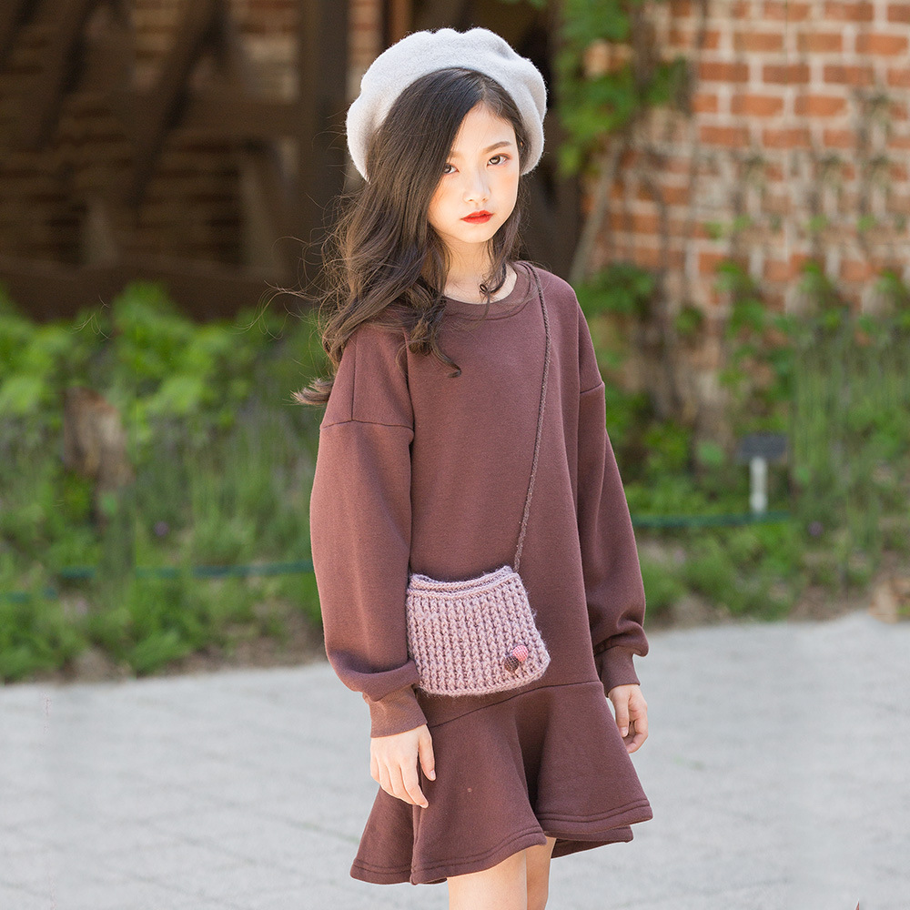 2019 Korean Fashion Designer Girls Fleece Mini Dress Winter Kids Dress New Year Clothes For 8 9 10 11 12 13 14 Year Dresses Aliexpress