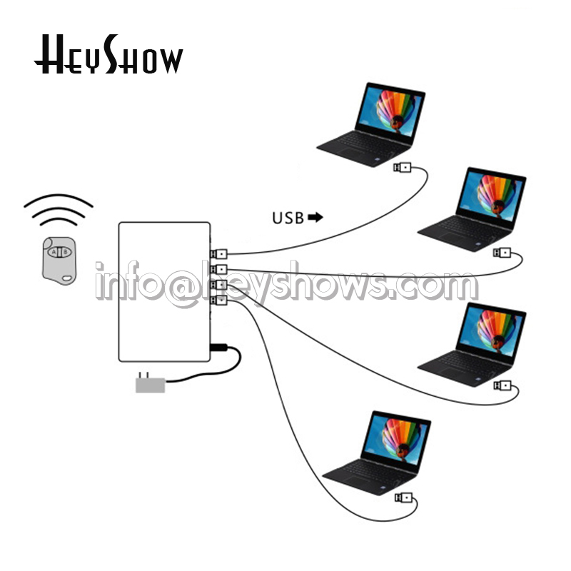 4 6 8 10 ports système d'alarme de sécurité pour ordinateur portable PC Anti-vol boîte d'affichage ordinateur portable alarme antivol pour exposition de magasin Mobile - 3