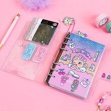 Bonito lollipop menina a6 diário caderno agenda planejador organizador divisórias espiral pessoal viagem diário bloco de notas papelaria coreano