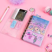 Śliczne Lollipop dziewczyna A6 pamiętnik Agenda Planner organizator dzielniki spiralne osobiste dziennik podróży notatnik koreańskie piśmiennicze