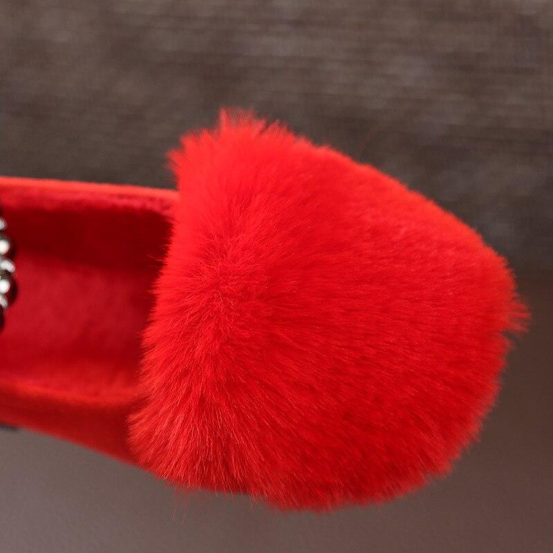 Bavoirsj Big Size Hairy New Arrival Round Toe Baby Pink Casual - Buty dziecięce - Zdjęcie 5