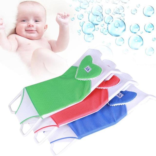 1 pcBaby cabrito cama baño de baño antideslizante suave acoplamiento neto sling plato de ducha estante asiento de bebé baño del masaje T En Forma de Red de cama 4
