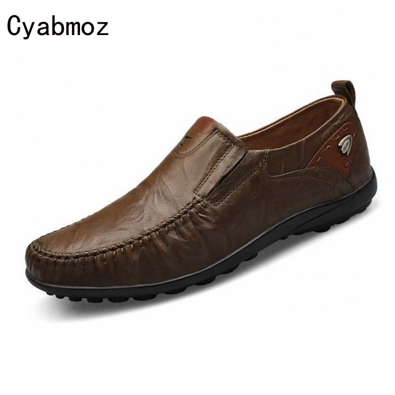 Man Casual Soft Loafers Cow Genuine Leather New Driviers Shoes Vintage Slip On Men Sapatos Masculinos Flat Creepers Shoes Casual 2016 new fashion autumn real genuine leather formal brand man loafers men s casual croco printed slip on flat shoes glm242