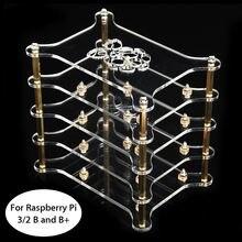 1 шт. Новинка кластера случае 4 слоя для Raspberry Pi 3/2 B и b + 115 х 85 х 115 мм для Raspberry