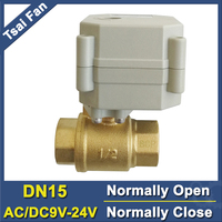 AC DC9 24V DN15 Normal Close Valve 5 Wires With Signal Feedback TF15 B2 C NPT