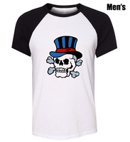 Men's Fashion Funny Hat skull Design Plain anime Cosplay T-Shirt friends party costume