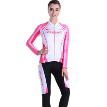 VEOBIKE Women Cycling Jersey 2017 Autumn Long Sleeve Mountain Road Bike Jersey MTB Jersey Bicycle Clothing Sets Ropa Ciclismo