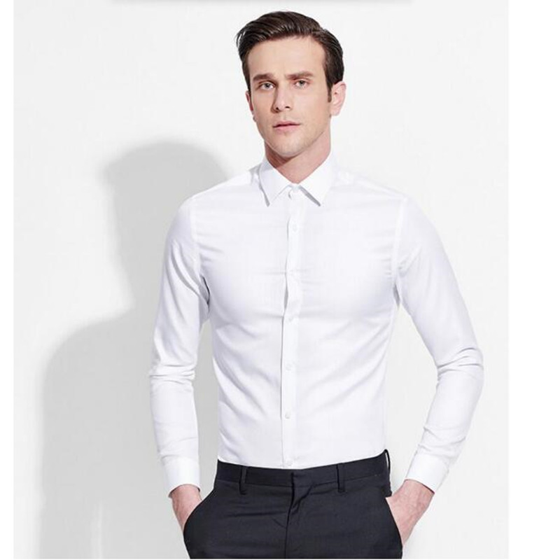 Spring latest luxury men 39 s long sleeve shirt uk man white for Mens formal white shirts