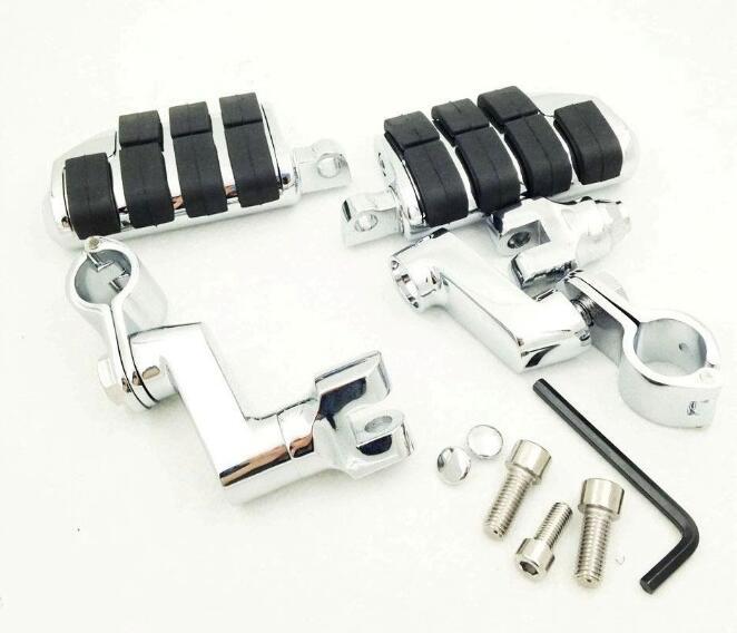 Universal 1 Kuryakyn Dually Highway Clamps Large Foot Pegs For Harley Sportster 883 xl1200 Honda Suzuki Yamaha
