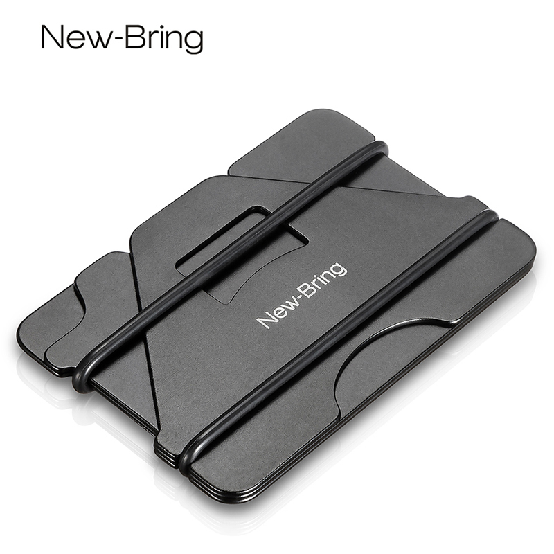 NewBring Multiple Function Metal Credit Card Holder Black Pocket Box ...