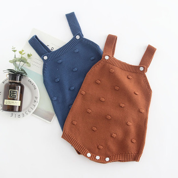 Baby Infant Boys Girls Knitted Knitting Suspender Rompers New Western Spring Autumn Fashion Rompers Clothing