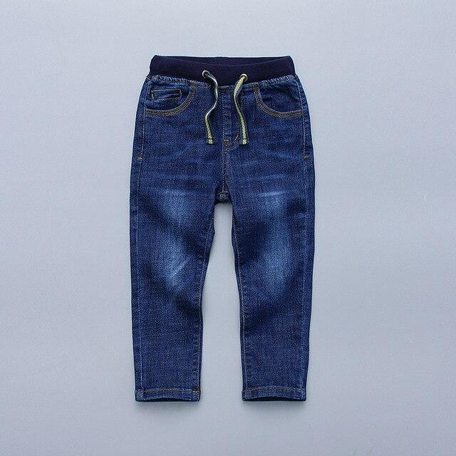 Детская Одежда 2017 весной новые печати автомобилей pattern упругие вязать мягкий мальчик джинсы брюки возраст от 2-7 Т