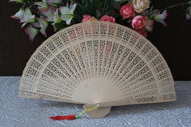 Fan libre de madera de la fragancia del estilo chino del envío - Para fiestas y celebraciones - foto 3