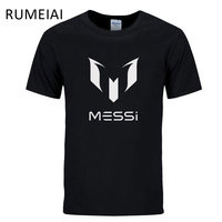 Summer Brand 100 Cotton Barcelona MESSI Soccer Men T Shirt Tops Man Casual Short Sleeve T
