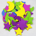Niños DIY juguete de alta calidad colorida etiqueta engomada de papel niños eva láminas de espuma pegatinas