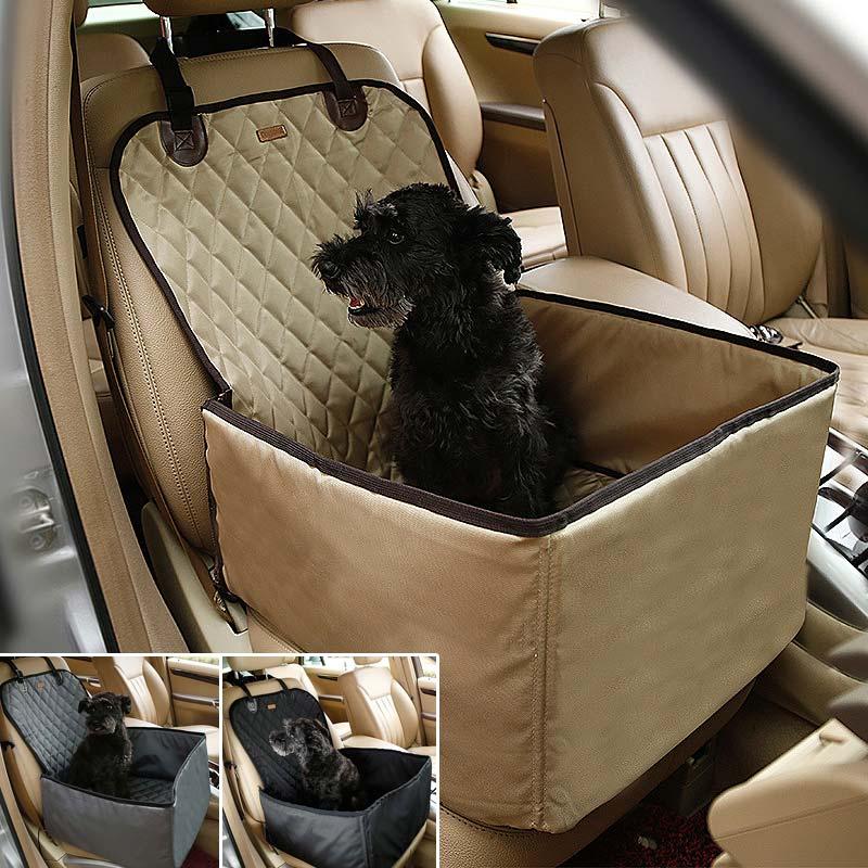 Impermeabile Pet Dog Car Carrier Carry Bag Storage Booster Seat Cover 2 in 1 Carrier Secchio Cesto TB Vendita
