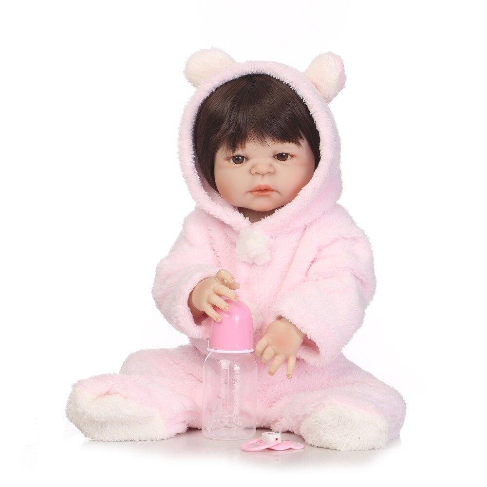 NEW ARRIVAL 55cm Soft Silicone Reborn Dolls Baby Realistic Doll Reborn 22 Inch Full Vinyl Boneca BeBe Reborn boy Doll