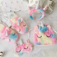 Diadema con máscara Kawaii de Ojos de unicornio, gran oferta, Animal de peluche relleno, regalo de Navidad para niñas