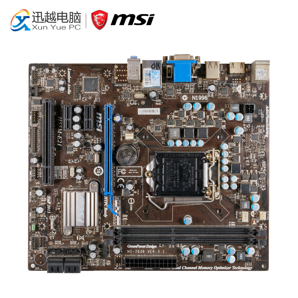 MSI H55M-E21 Desktop Motherboard H55 Socket LGA 1156 i3 i5 i7 DDR3 8G SATA2 USB2 Micro-ATX цена