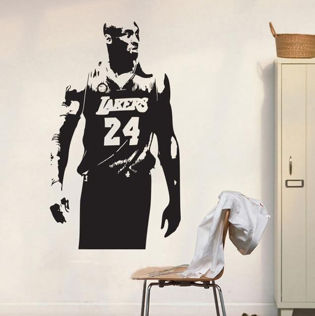 Lakers Kobe Bryant Wall Art Sticker NBA Basketball Poster Graphic Decal  Decor School Dorm Living Room