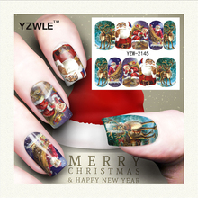 YZWLE 1 Sheet Christmas Design DIY Decals Nails Art Water Transfer Printing Stickers Accessories For Manicure Salon (YZW-2145)