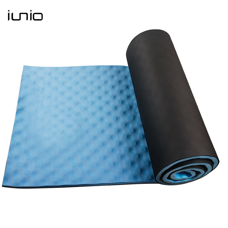 iunio Yoga Mats 15MM Fitness Mat For Body Building Exercise Pilates Home GYM Training Folding EVA Pad Outdoor Camping Yoga Mat body gym eva