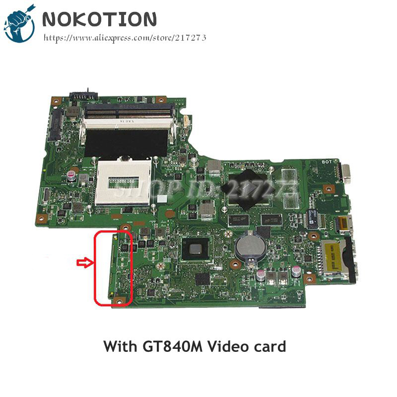 NOKOTION DUMBO2 MAIN BOARD For Lenovo Thinkpad Z710 Laptop Motherboard DDR3L GT840M Video card