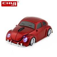 Chyi 2.4 ghz sem fio mouse legal mini carro forma computador ratos 1600 dpi usb óptico 3d carro mause para dropshipping presente computador portátil