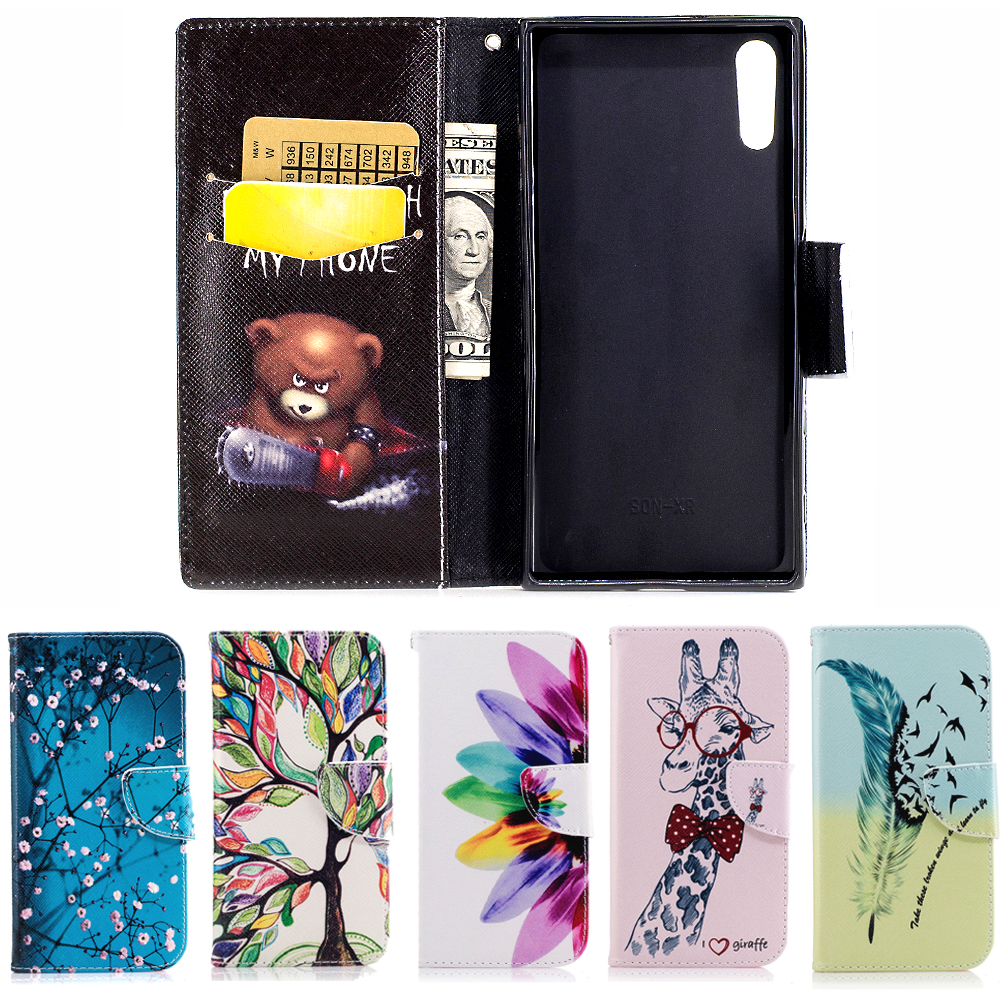 High Quality PU Leather Phone Case For Sony Xperia XA1/XZ/XZs birthday present Housing Stand Flip Cover Wallet Shell Fundas Capa