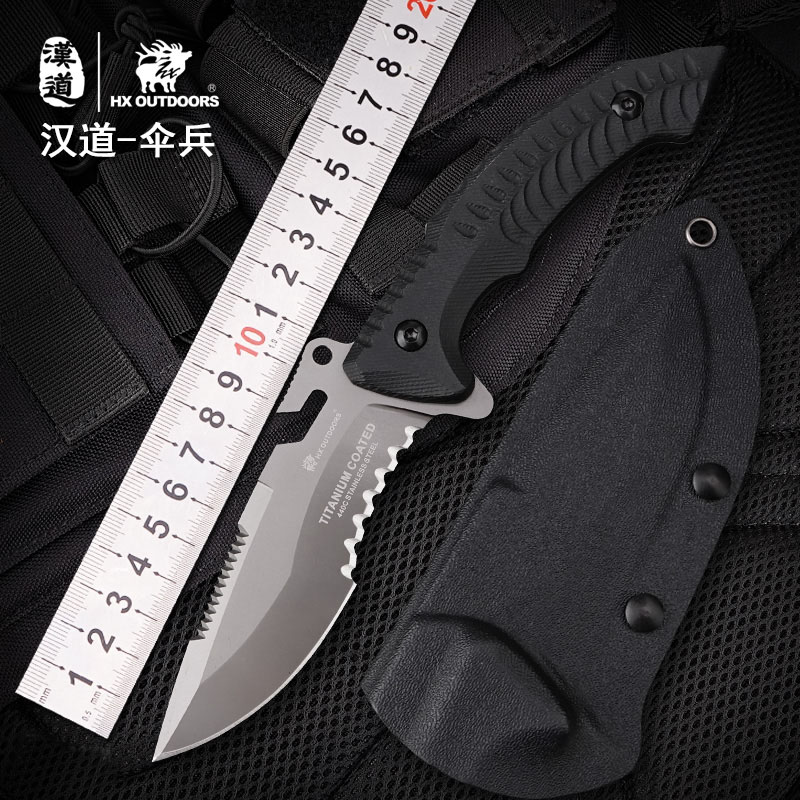 HX OUTDOORS Multi-Functional Fixed Blade Knife 440C Blade K10 Handle Tactical Camping Outdoor Knives Survival Gear Knife Tools hx outdoor knife d2 materials blade fixed blade outdoor brand survival straight camping knives multi tactical hand tools