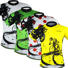 Bike team 2016 Women/Men Cycling jersey tops/short sleeve bike clothing summer style/Bicycle Clothes Yellow/Green/Yellow/Red