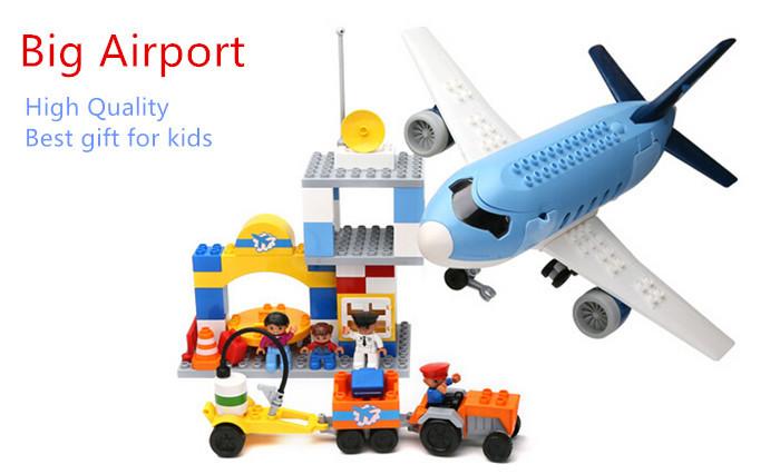 Happywill Big Building Blocks - Happy Airport Super Big Plane Blocks Educational Toys for Children Kids Best Gift Compatible 0367 sluban 678pcs city series international airport model building blocks enlighten figure toys for children compatible legoe