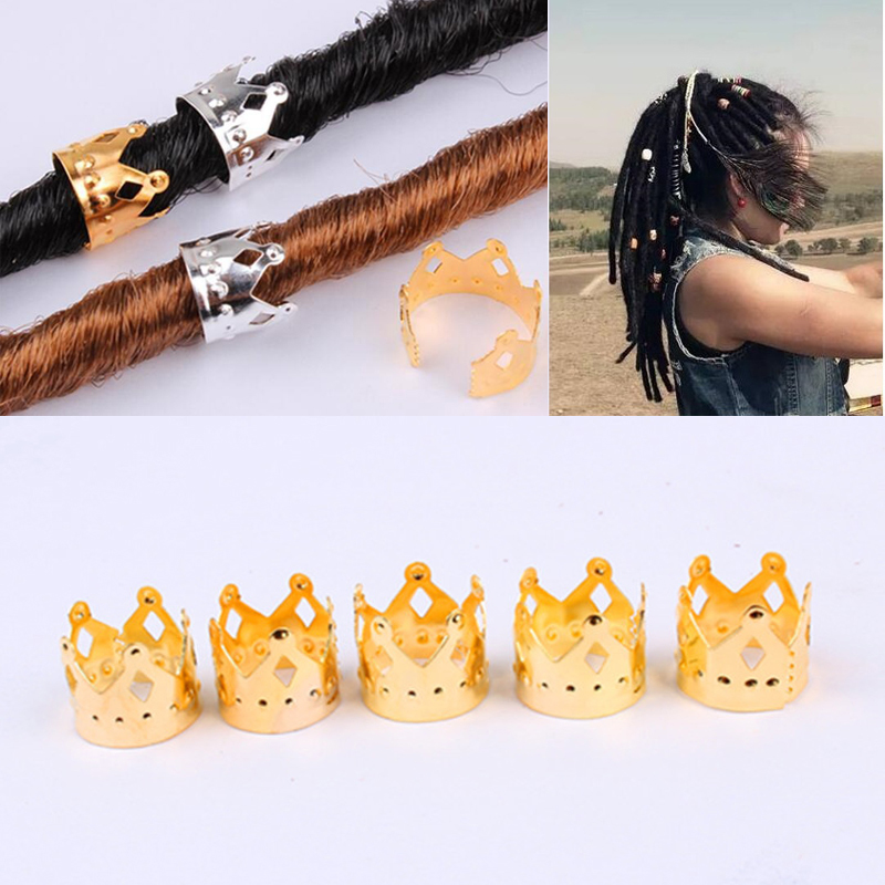 DIY Accessories Gold Accessories Hollow Crown Wig Ring Reggae Black Dirty Pick-up Buckle Headdress Decorative Ring 8C0204