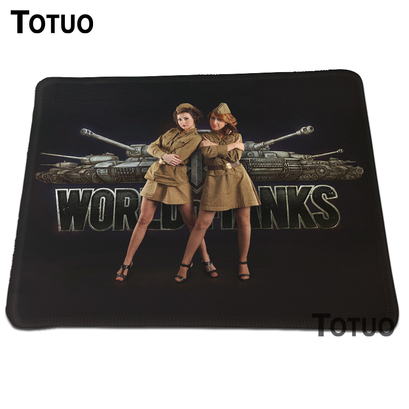 Top fashion World of Tanks High quality Best Durable Gaming Optical Computer Mouse Mat Mice Pads Soft Silicone Lock Edge Pad