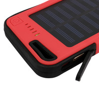 Bbest price 20000mah Dual USB Waterproof Solar Power Bank Battery Charger For Cell Phone for Iphone 6S and 6S Plus for Samsung