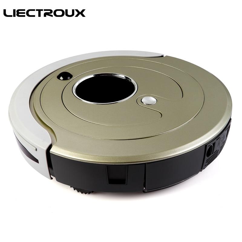 Liectroux D6601 робот пылесос, зигзаг режим, день и ночь распознавания, двойной основной щетки, виртуальный блокатор, алюминиевый вентилятор