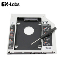 En-Labs 2,5 дюйма SATA 2nd HDD/SSD жесткий диск SATA Эдди лоток для Apple MacBook/MacBook Pro 13 15 17 компакт-дисков/DVD-ROM оптического устройства