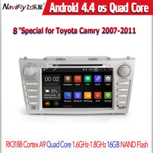Two din 8inch car multimedia player for Toyota CAMRY 2007 2011 built in Android4 44 Quad